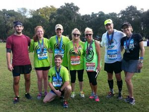 "Savannah Center for Blind and Low Vision's ""Blind Ambition"" team at Rock n' Roll Marathon in Savannah"